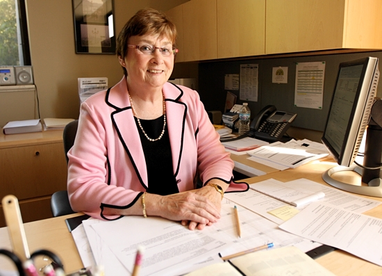 In this file photo from 2010, Marilou Eldred poses in her office at the Catholic Community Foundation in St. Paul. Dave Hrbacek / The Catholic Spirit