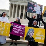 Crowd outside Supreme Court rallies against federal contraceptive mandate