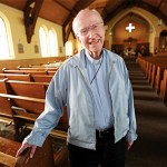 Nearly 90, archdiocese's oldest active pastor focuses on love and mercy