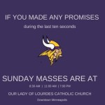 Answered prayers? Our Lady of Lourdes' Vikings Facebook post goes viral