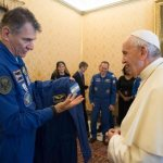 BSM alum among astronauts who give Pope Francis flight suit