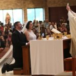 Couple chooses to wed during Sunday liturgy at Transfiguration parish