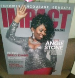 Angie Stone n the cover of Impat Magazine