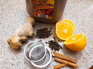 Ingredients for Hot Apple Cider