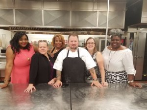 Chef Nick Walk with The Chef In Pearls and  members of the Atlanta Food Bloggers' Society