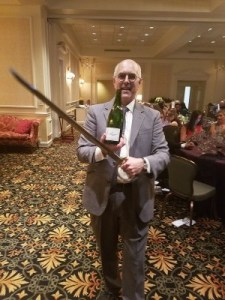 Our sommelier, Gil, with his saber