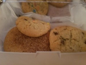 Our assortment of cookies
