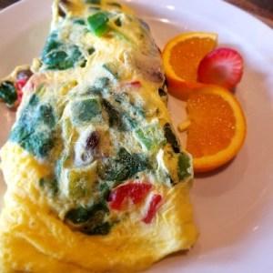 Vegetable Omelette....