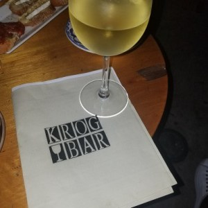 Reisling at Krog Bar