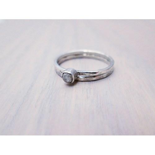 Medium Crop Of Raw Diamond Ring