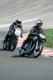 Vincent Prat leading Franck Chatokhine at the Vintage Revival Montlhéry 2013