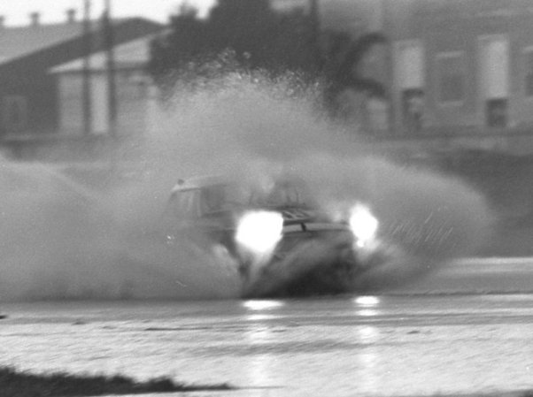 MGB throws a bow wake at the 1965 Sebring