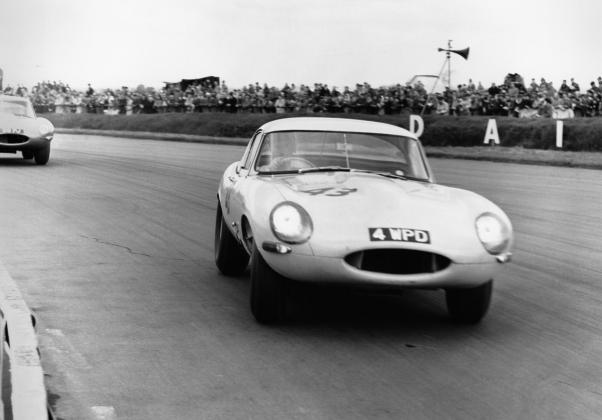 E-Type Lightweight at Silverstone, 1963