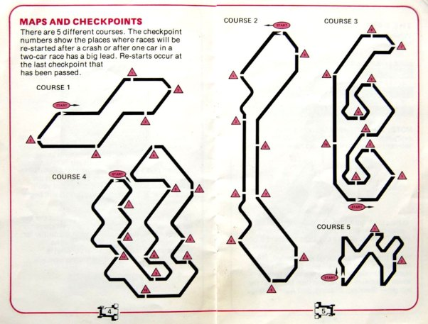 Intellivision Auto Racing track map