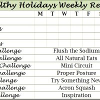 Healthy Holidays Week 2 Challenges