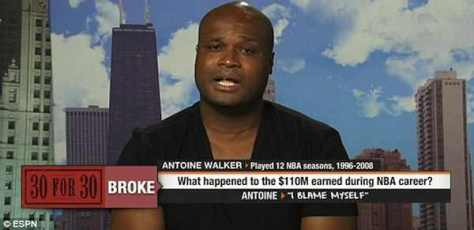 Former NBA all-star Antoine Walker started playing one-on-one basketball for money after blowing $110 million.