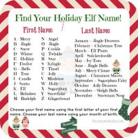 Find Your Holiday Elf Name!
