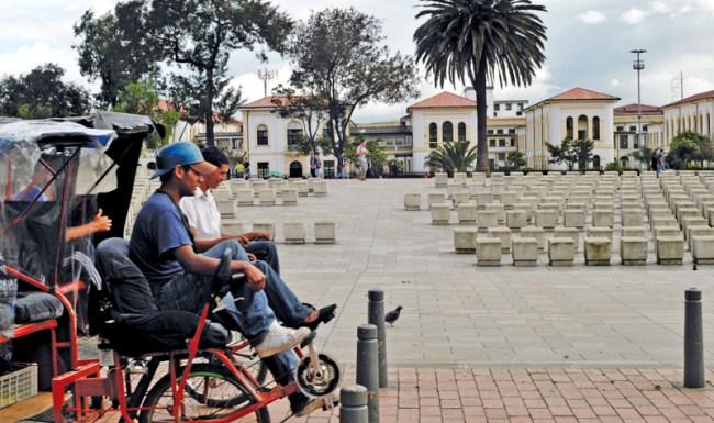 the Plaza España in Bogotá