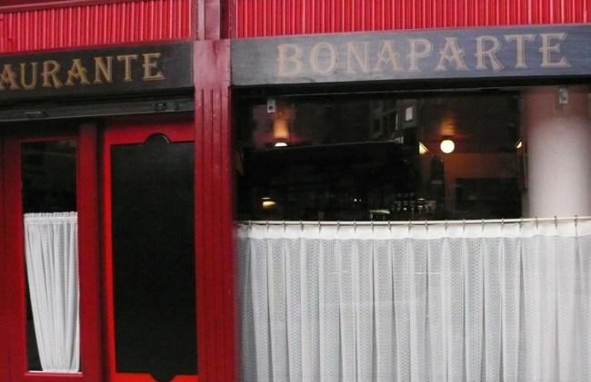 The quaint restaurant Bonaparte offers clients an authentic French lunch.