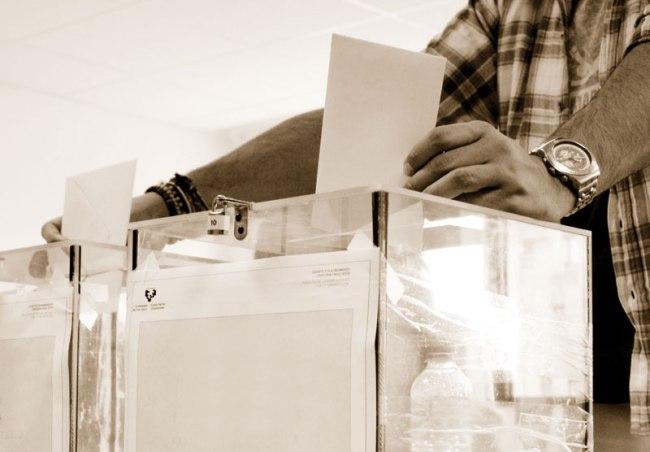 File photo for the vote en blanco.