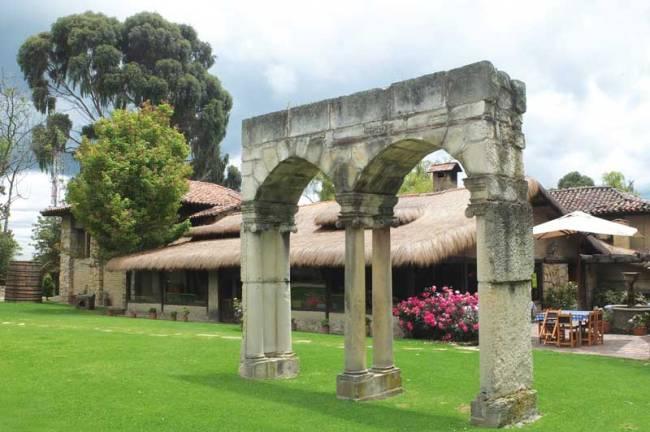 The stone portal of El Portico.