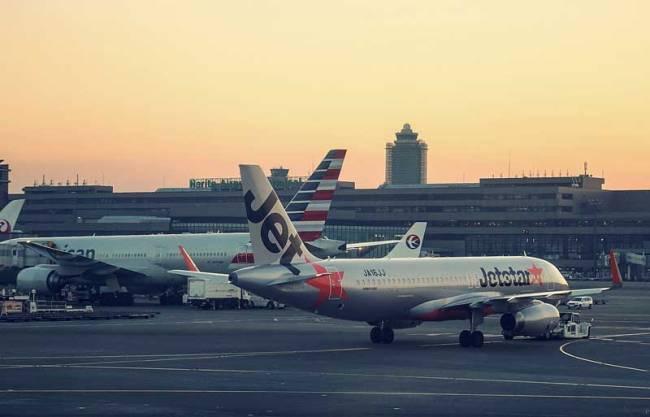 View of Tokyo's Narita International Airport.