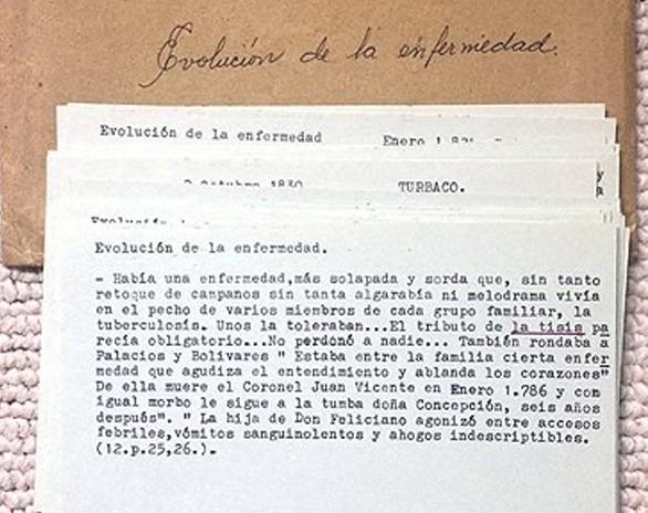 Manuscript by Gabo at the University of Texas.