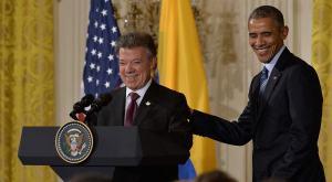 Barack Obama and Juan Manuel Santos