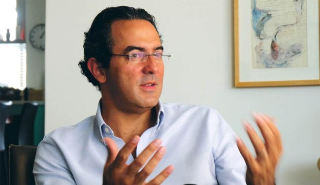 Colombian author Juan Gabriel Vasquez