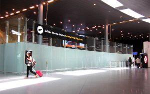 Travelers pass through Bogotá's El Dorado airport.
