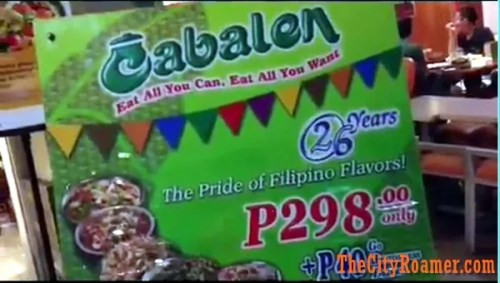 All Filipino Buffet at Cabalen TriNoMa Promo