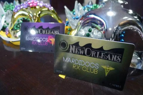 MardiDocs RX Card at Murray's New Orleans