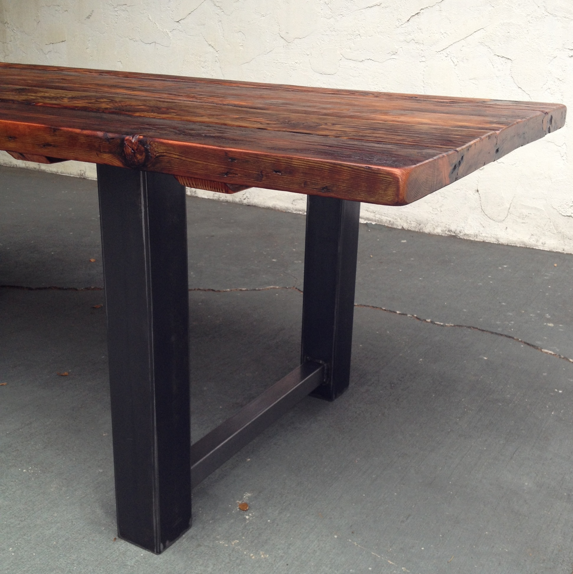 reclaimed wood and metal dining table custom kitchen tables This Dining