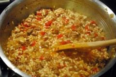 Italian Sausage and Roasted Red Pepper Risotto
