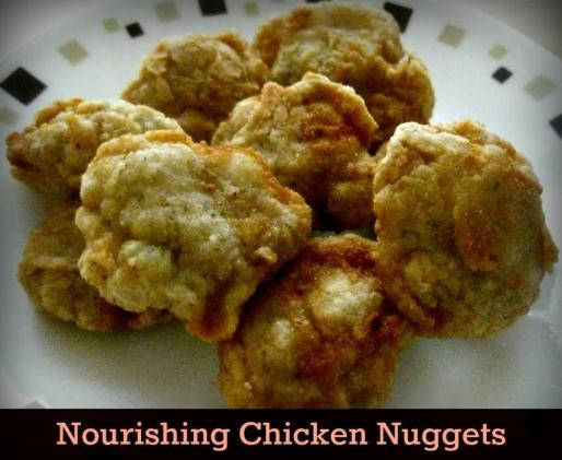 Grain Free Nourishing Chicken Nuggets from The Coconut Mama