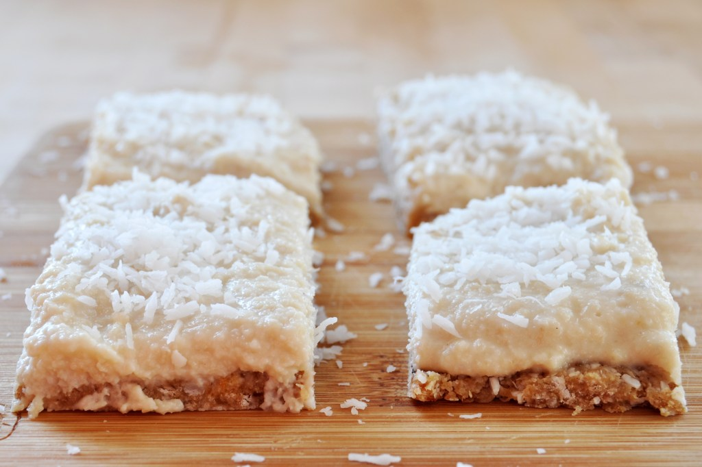 Raw Vegan Lemon Coconut Bars (Gluten-Free) - The Colorful Kitchen
