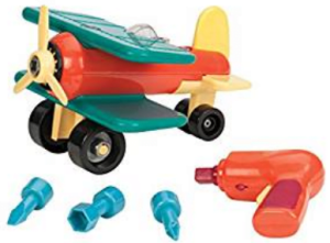15 Battat Take-A-Part Toy Vehicles Airplane Green