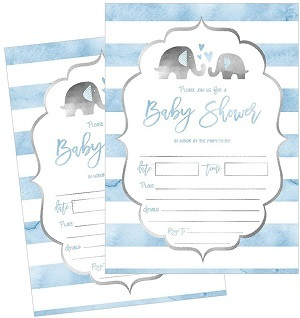 Shower Invitations Baby Shower Invitations Elephant