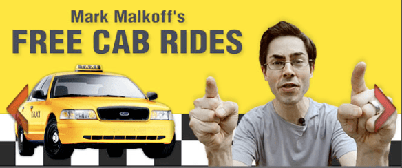 Mark Malkoff free cab ride