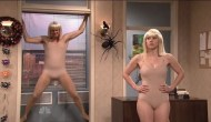 KateMcKinnon_JimCarrey_Sia_Chandelier_costume_Halloween_SNL