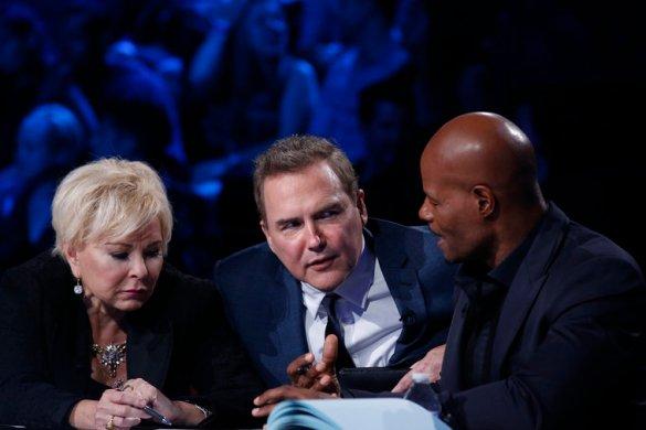 LAST COMIC STANDING -- Episode 901 -- Pictured: (l-r) Roseanne Barr, Judge; Norm Macdonald, Judge; Keenan Ivory Wayans, Judge -- (Photo by: Ben Cohen/NBC)