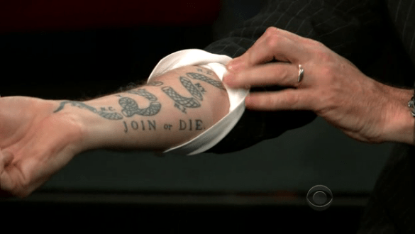 History orders up join or die with craig ferguson series for Join or die tattoo