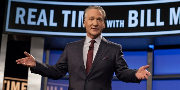 """In this photo provided by HBO, Bill Maher hosts the season premiere of """"Real Time with Bill Maher"""" Friday, Jan. 18, 2013. (AP Photo/HBO, Janet Van Ham)"""