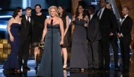 """Inside Amy Schumer"" cast member Amy Schumer receives the Outstanding Variety Sketch Series Award at the 67TH PRIMETIME EMMY® AWARDS."