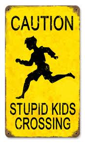 stupid kids crossing