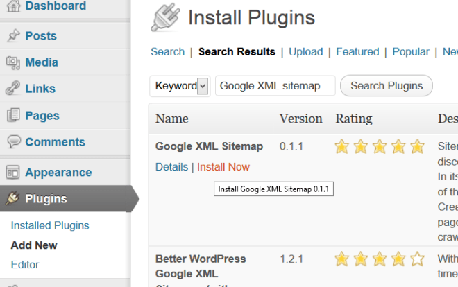 Choose and Install from Plugin list