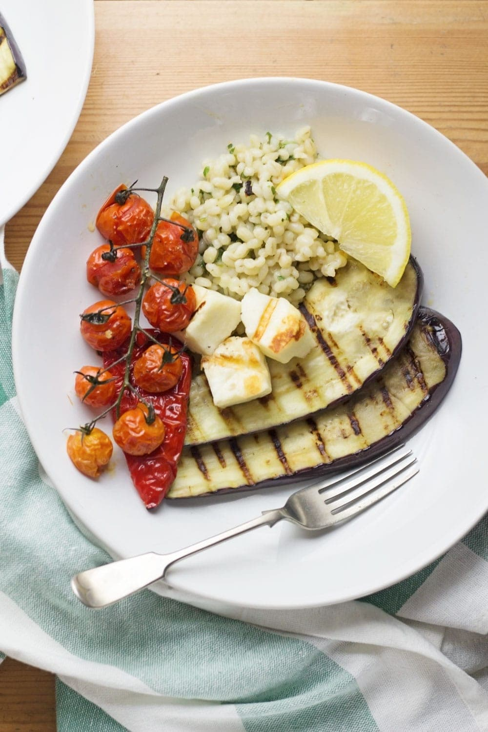 Garage This Griddled Halloumi Served Over Herby Roasted Veg Griddled Halloumi Summer Dinner Is Here Herby Barley Roasted Veg Cook Report How To Cook Pearl Barley Porridge How To Cook Pearl Barley Sala nice food How To Cook Pearl Barley