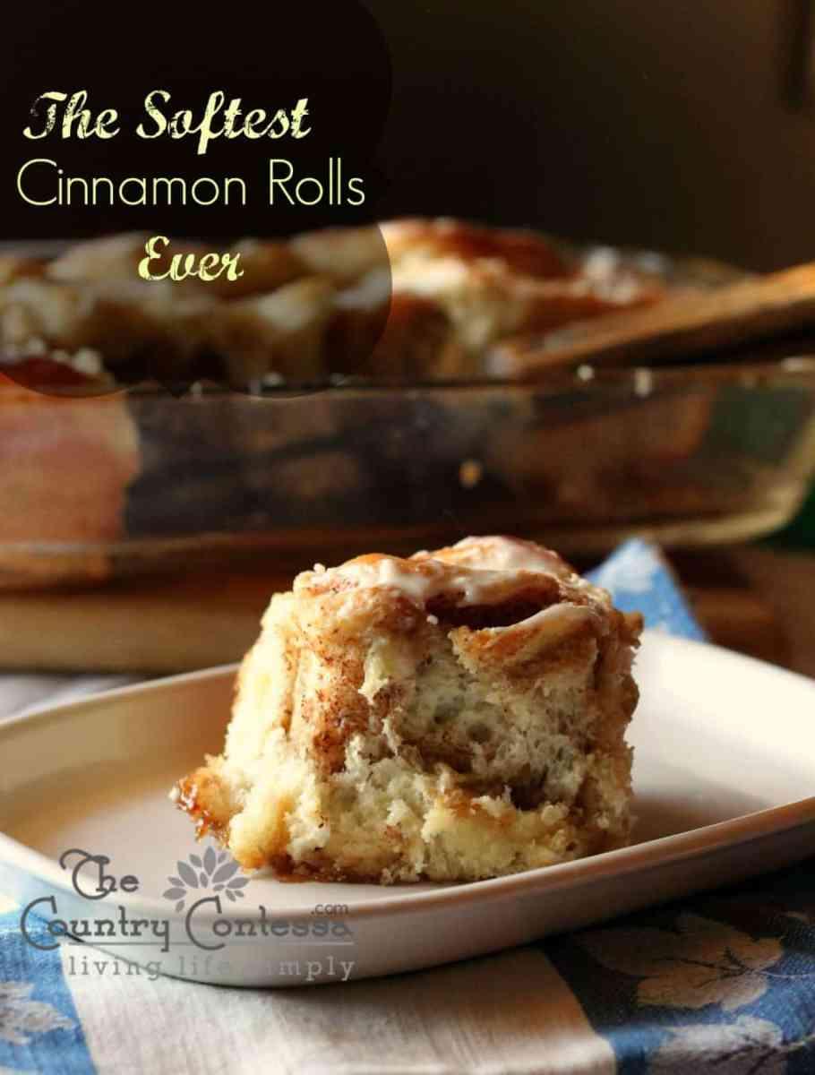 Soft Homemade Cinnamon Rolls