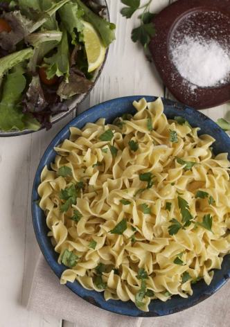butter parsley egg noodles