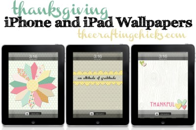 Thanksgiving iPhone and iPad Wallpapers - The Crafting Chicks